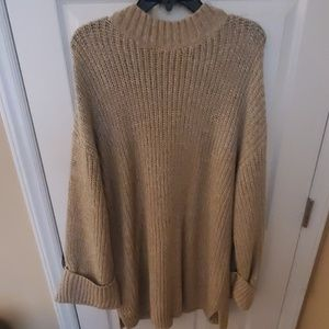 Tan maternity sweater